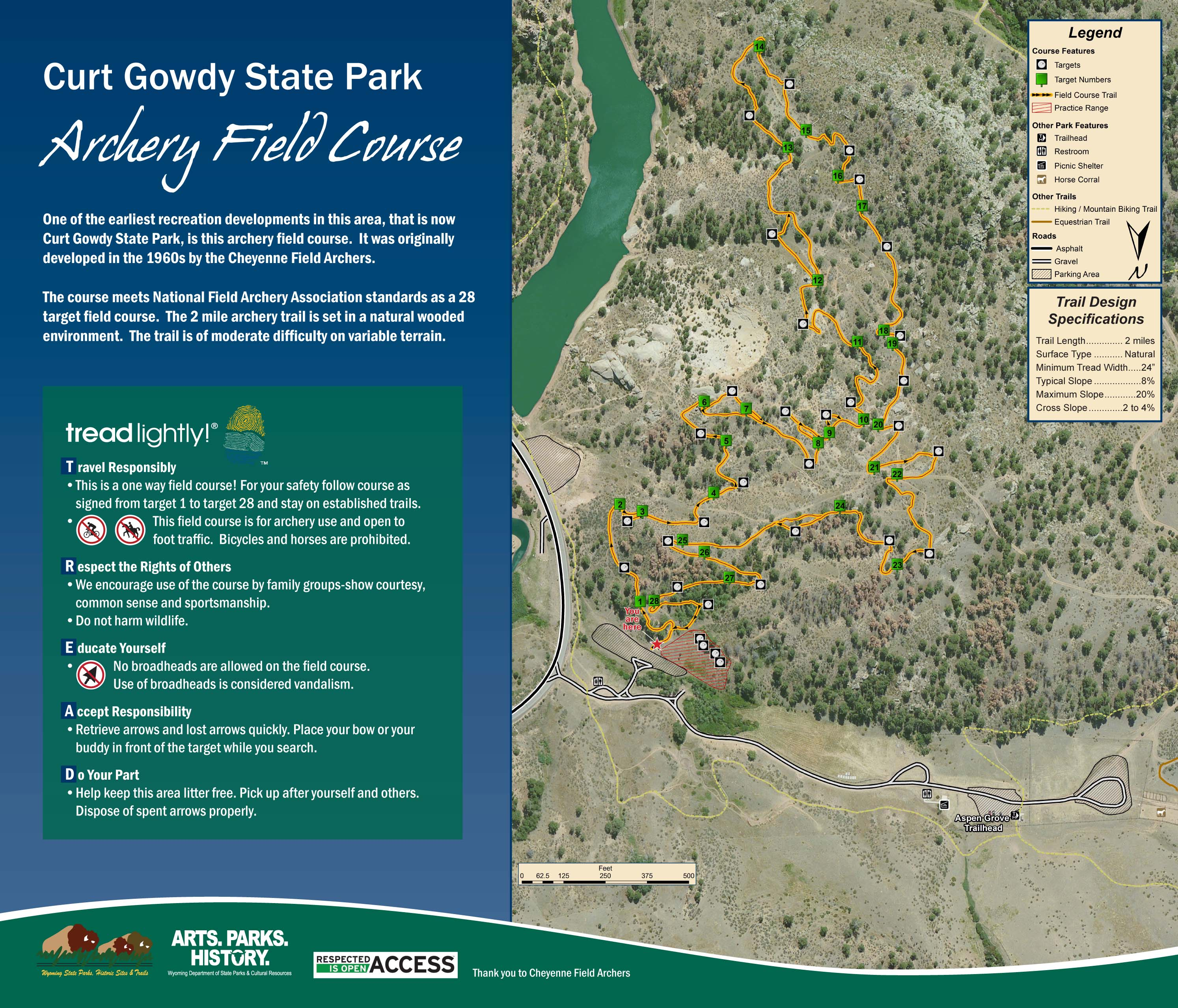 Map of Curt Gowdy SP Archery Range