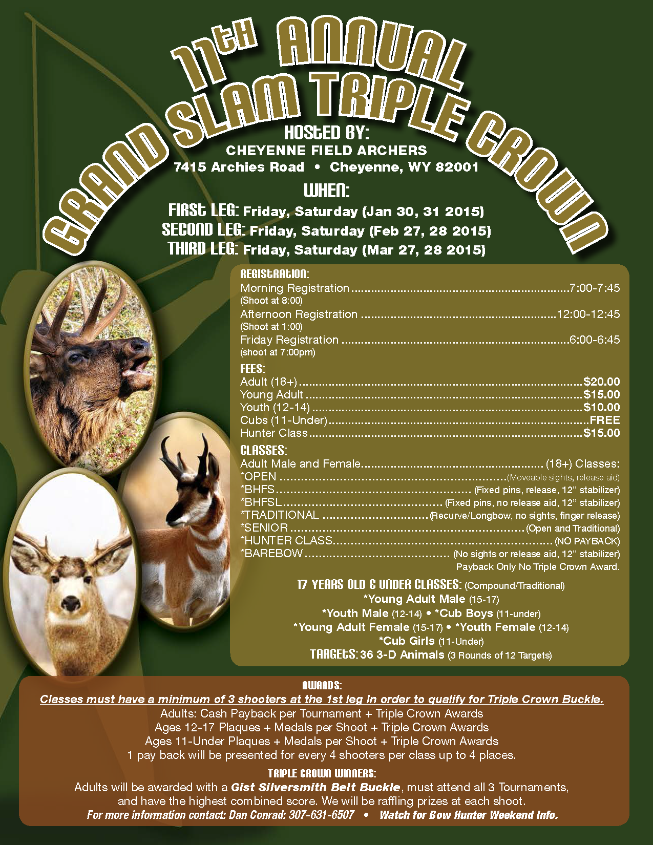Event of this year s grand slam triple crown event this weekend at